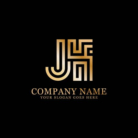 JK monogram logo inspirations, letters logo template,clean and creative designs Illustration