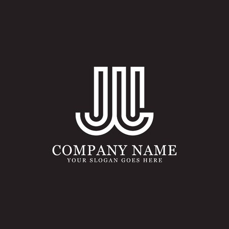 JL monogram logo inspirations, letters logo template,clean and creative designs Stock Vector - 130156268