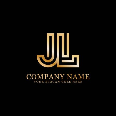JL monogram logo inspirations, letters logo template,clean and creative designs Stock Vector - 130156269
