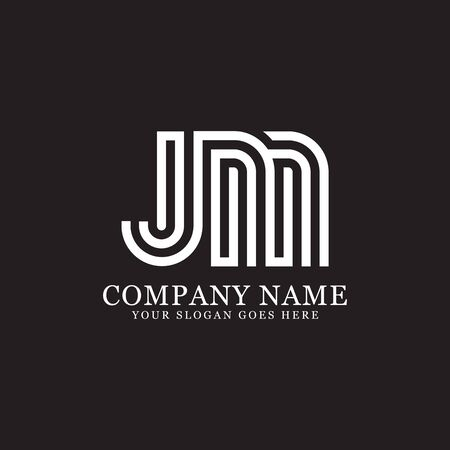 JM monogram logo inspirations, letters logo template,clean and creative designs Stock Vector - 130156270