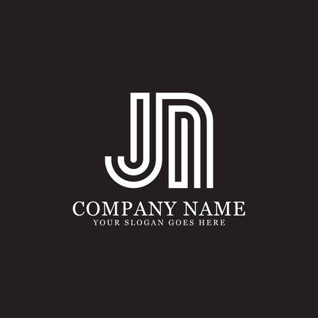 JN monogram logo inspirations, letters logo template,clean and creative designs Stock Vector - 130156276
