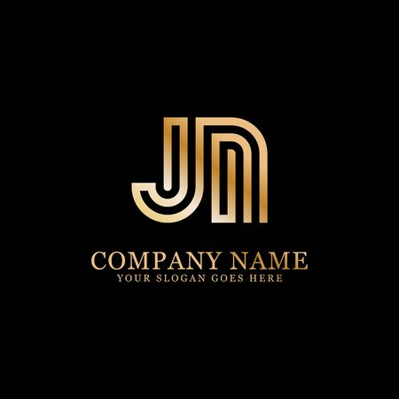 JN monogram logo inspirations, letters logo template,clean and creative designs Stock Vector - 130156277
