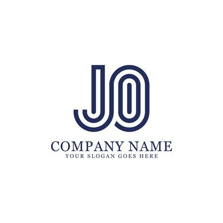 JO monogram logo inspirations, letters logo template,clean and creative designs Stock Vector - 130156284