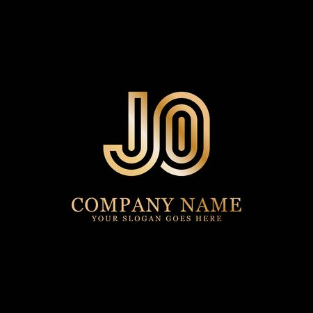 JO monogram logo inspirations, letters logo template,clean and creative designs Stock Vector - 130156434