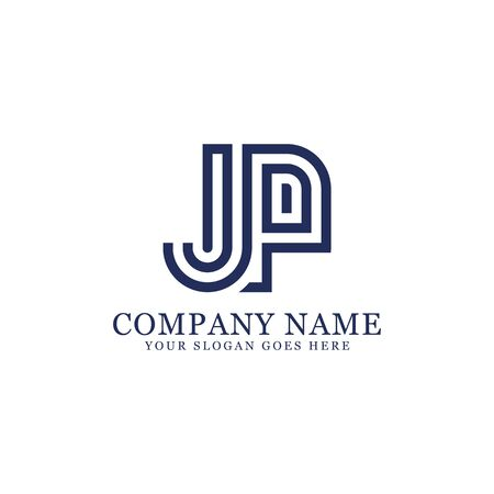 JP monogram logo inspirations, letters logo template,clean and creative designs Stock Vector - 130156435