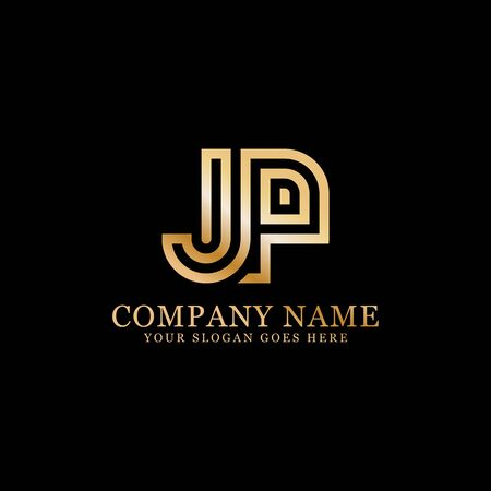 JP monogram logo inspirations, letters logo template,clean and creative designs Stock Vector - 130156436