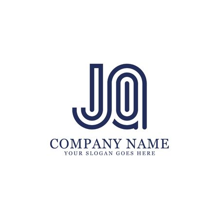 JQ monogram logo inspirations, letters logo template,clean and creative designs Illustration
