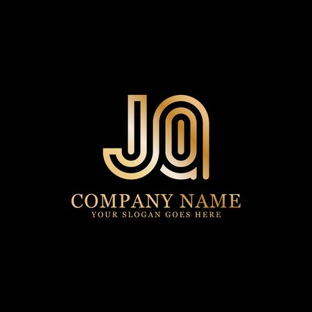 JQ monogram logo inspirations, letters logo template,clean and creative designs Stock Vector - 130156438