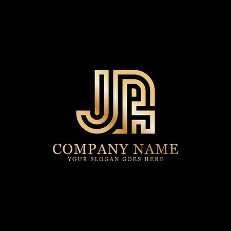 JR monogram logo inspirations, letters logo template,clean and creative designs Illustration