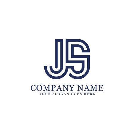 JS monogram logo inspirations, letters logo template,clean and creative designs