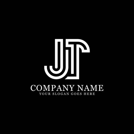 JT monogram logo inspirations, letters logo template,clean and creative designs