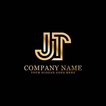 JT monogram logo inspirations, letters logo template,clean and creative designs Stock Vector - 130156443