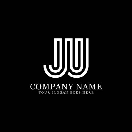 JU monogram logo inspirations, letters logo template,clean and creative designs