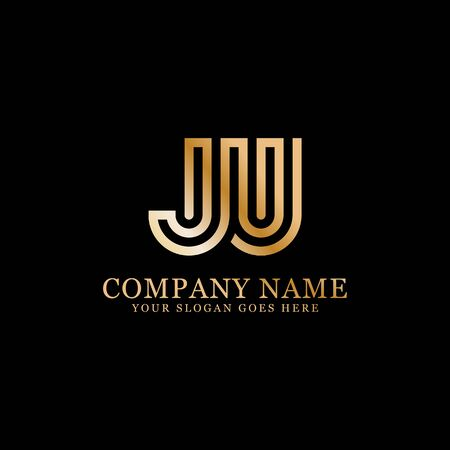 JU monogram logo inspirations, letters logo template,clean and creative designs Stock Vector - 130156445