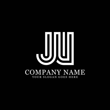 JV monogram logo inspirations, letters logo template,clean and creative designs Illustration