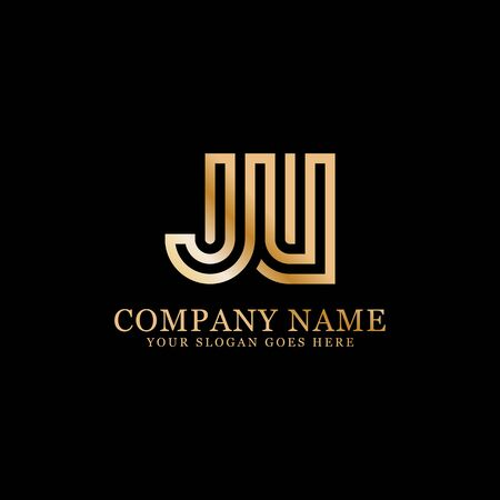 JV monogram logo inspirations, letters logo template,clean and creative designs Stock Vector - 130156449