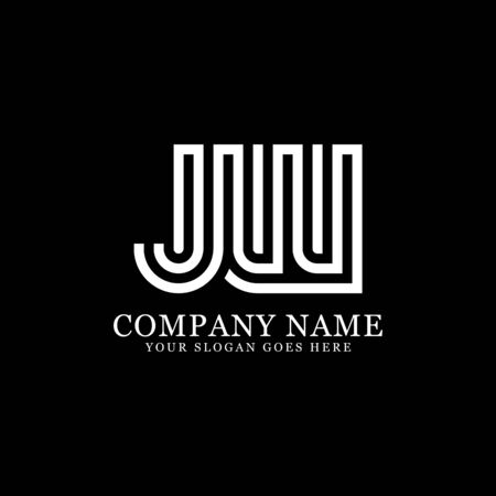 J AND W monogram logo inspirations, letters logo template,clean and creative designs Illustration