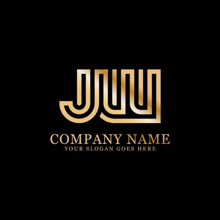 J AND W monogram logo inspirations, letters logo template,clean and creative designs Stock Vector - 130156451