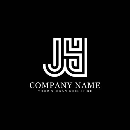 JY monogram logo inspirations, letters logo template,clean and creative designs Illustration