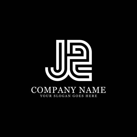 J AND Z monogram logo inspirations, letters logo template,clean and creative designs Stock Vector - 130156571