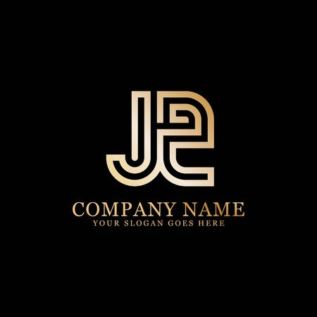 J AND Z monogram logo inspirations, letters logo template,clean and creative designs Illustration