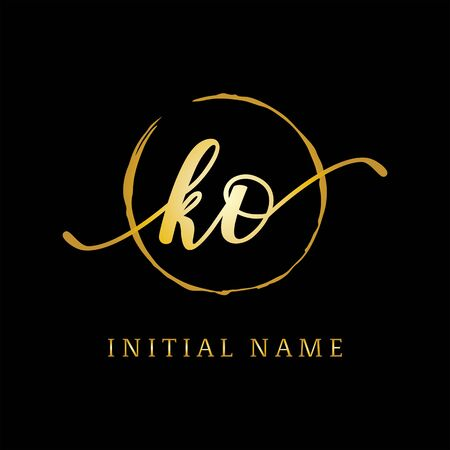 KO beauty logo inspiration, luxury logo design, initial logo name Stock Vector - 130156608
