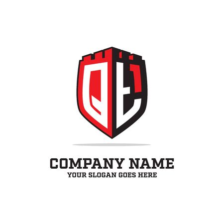 Q T initial logo designs, shield logo template, letter logo inspirations
