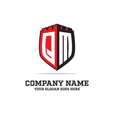 Q L initial logo designs, shield logo template, letter logo inspirations