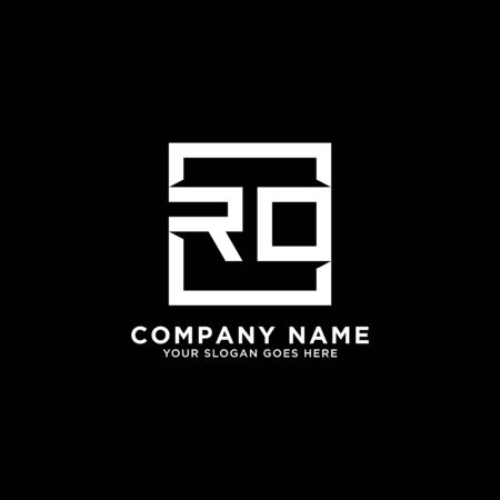 R AND O initial logo inspirations, square logo template, clean and clever logo vector