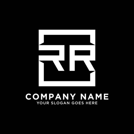 R AND R initial logo inspirations, square logo template, clean and clever logo vector Illustration