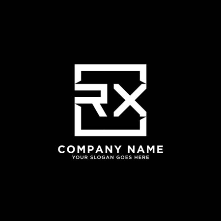 R AND X initial logo inspirations, square logo template, clean and clever logo vector Illustration
