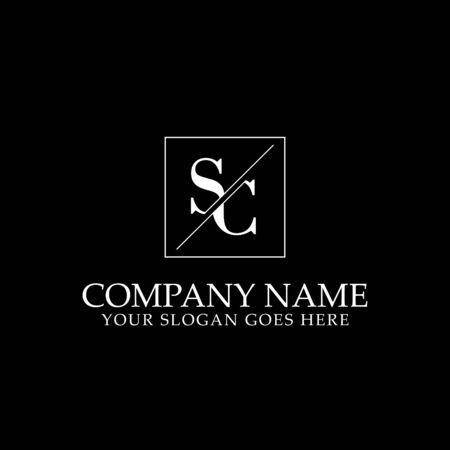 SC Initial logo designs, simple letter logo template