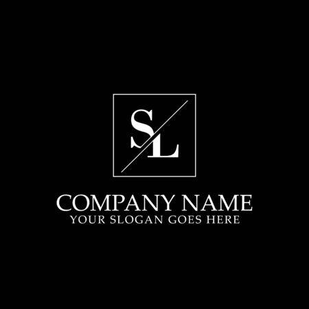 SL Initial logo designs, simple letter logo template Logó