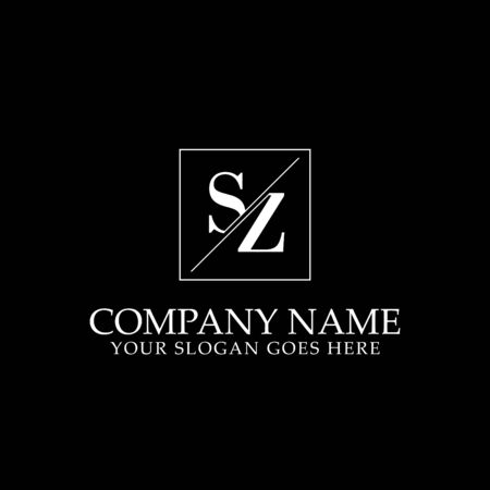 SZ Initial logo designs, simple letter logo template Logó
