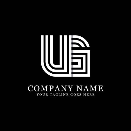 UG initial designs, creative monogram template, letter inspirations Vecteurs