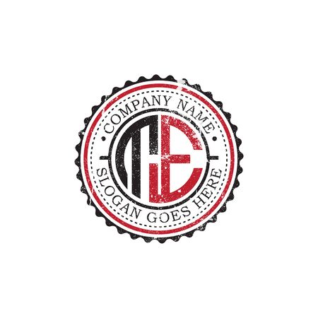 TE initial logo inspirations,vintage badge logo design, letter logo template