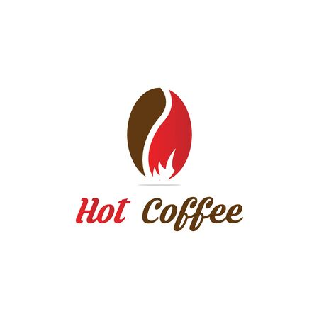 hot coffee logo designs, coffee shop logo inspirations