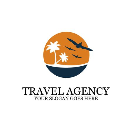 sunset Beach logo inspiration, travel logo designs, clean and clever