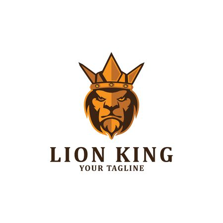 The lion king logo designs inspiration, clean and strong logo template Banque d'images - 137942201