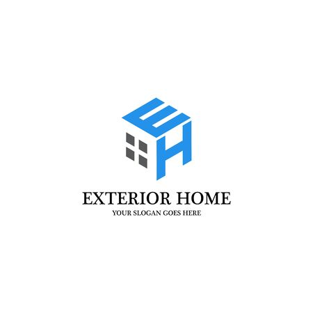 Exterior Home Logo Inspiration, clean and creative logo designs