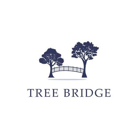 Idée de logo Nature Tree Bridge, stock de logo moderne et créatif Logo