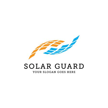 Solar panel logo design, can use for your trademark, branding identity or commercial brand
