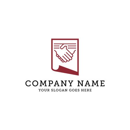 sign agreement logo design icon, It is good for your company, corporate