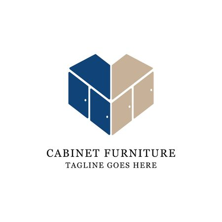 love cabinet furniture logo design, fit for lovely business and store logo vector illustration Archivio Fotografico - 150211620