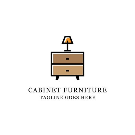 interior furniture cabinet Wood logo design, It is good for your business company or corporate logo template Archivio Fotografico - 150211617