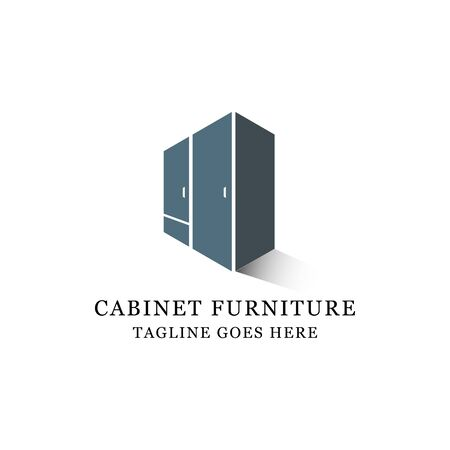 interior furniture cabinet logo design It is good for your business company or corporate Vettoriali