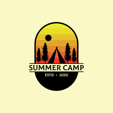 Summer Camp Outdoor  design vector, best for sport or recreation  inspiration etc