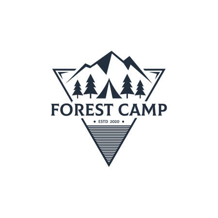 Creative Forest Camp Outdoor   design vector , best for sport or recreation  etc