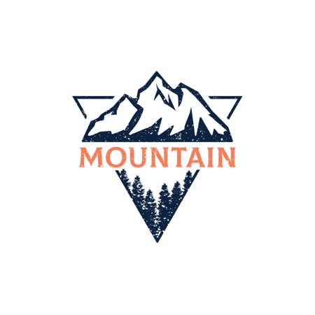 Forest Mountain Outdoor  design vector in triangle, best for sport or recreation