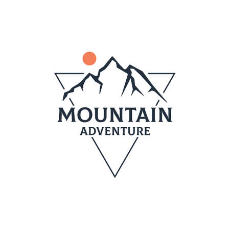 Mountain Adventure Outdoor  design vector in triangle, best for sport or recreation Ilustracja